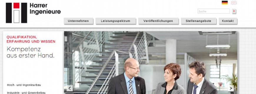 Relaunch Website Harrer Ingenieure