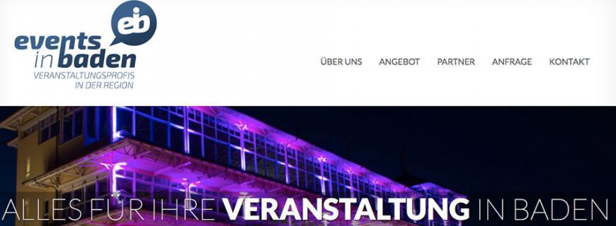 Jetzt online: Events in Baden