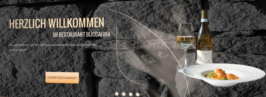 Launch der Website für das Golfrestaurant BuccaFina