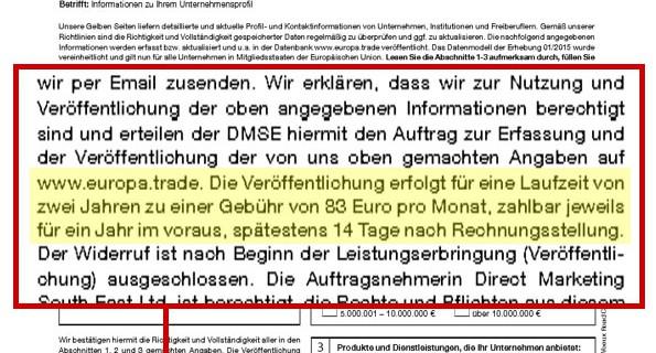 Aufgepasst – Gelbe Seiten Fake kommt als Fax