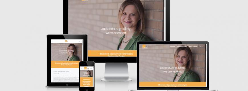 Heidi Weber Rüegg mit neuer Website für die Impact Development GmbH