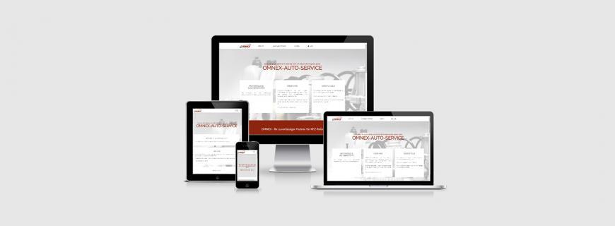 OMNEX-Auto-Service erscheint im responsive Webdesign
