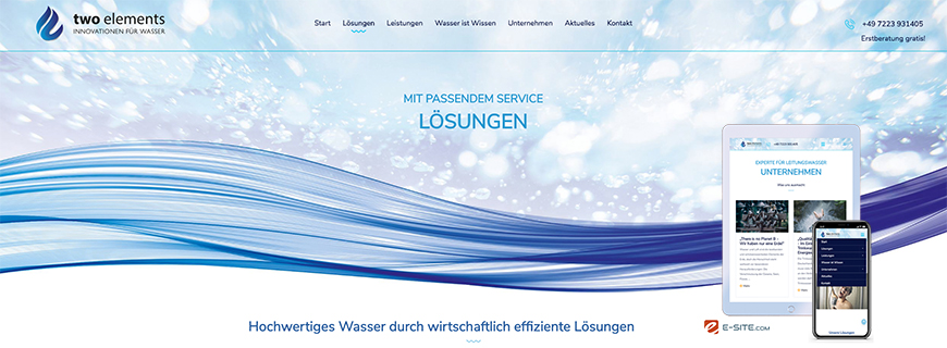 Launch der Website für two elements