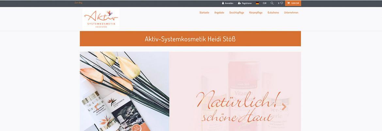 Onlineshop – Aktiv-Systemkosmetik