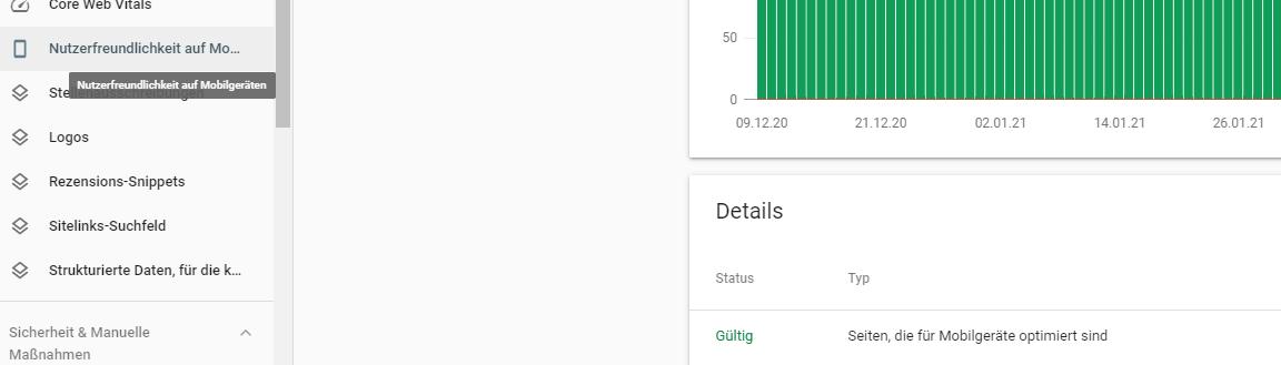 Nutzerfreundlichkeit auf Mobilgeräten in der Google Search Console
